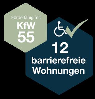 Förderfähig mit KfW55 – 12 barrierefreie Wohnungen